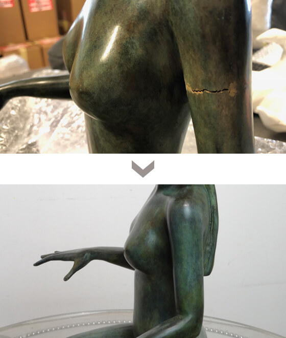 restauration sculpture bronze